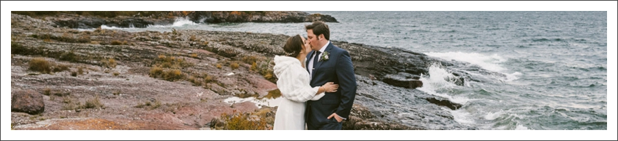 Kathryn + Danny // Surfside on Lake Superior Wedding // by Amber